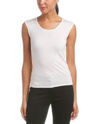 ESCADA - White Wool & Silk-blend Tank - Lyst