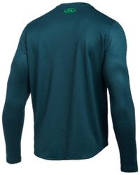 Under Armour Green Tech Waffle Long Sleeve Shirt for men