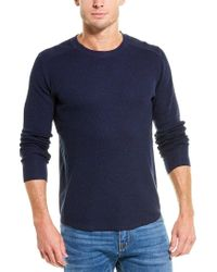 Vince Blue Waffle-knit Top for men