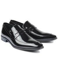 Versace Black Versace Collection Penny Loafer for men