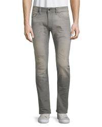 DIESEL - Gray Thavar Distressed Jeans for Men - Lyst