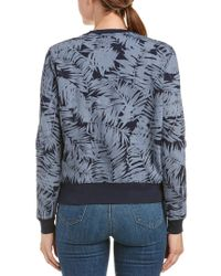 Sol Angeles Blue Inverse Palm Pullover