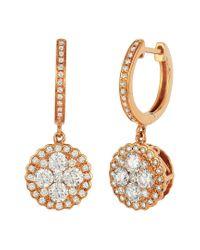 Le Vian Metallic ? 14k Strawberry Gold? 0.94 Ct. Tw. Diamond Earrings