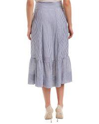 T Tahari Blue Midi Skirt