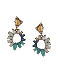 Sparkling Sage - Multicolor 14k Plated Resin Drop Earrings - Lyst
