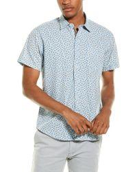 Thread & Cloth Blue Mini Floral Woven Shirt for men