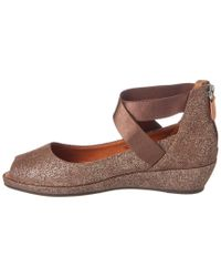 Gentle Souls - Brown Lisa Suede Wedge Flat - Lyst