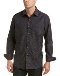Robert Graham Black Aronia Classic Fit Woven Shirt for men