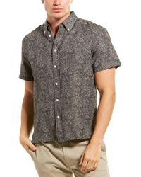 Billy Reid Gray Leo Standard Fit Woven Shirt for men