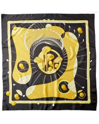 "Hermès Yellow ""swing"" By Julia Abadie Silk Scarf"