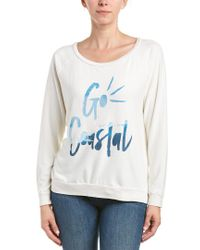 Sol Angeles White Graphic Pullover
