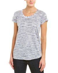 NIC+ZOE Blue Linen-blend T-shirt