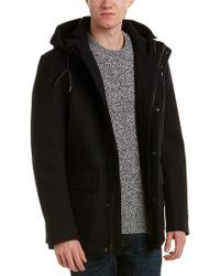 Cole Haan Black Wool-blend Coat for men