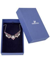 Swarovski - Multicolor Crystal Impulse Plated Necklace - Lyst