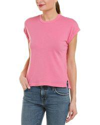 Current/Elliott Pink The Vintage Rolled T-shirt