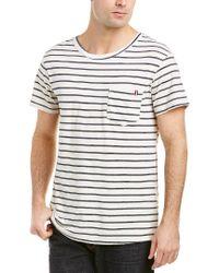 Sol Angeles Blue Vintage Stripe Pocket T-shirt for men