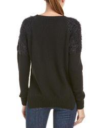 Anine Bing Black Anine Bing Fuzzy Shoulder Wool-blend Sweater