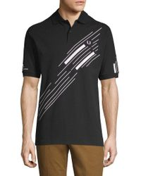 Fred Perry Black Abstract Graphic Pique Shirt for men
