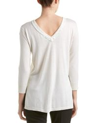 Magaschoni - White Cashmere & Silk Blend Sweater - Lyst