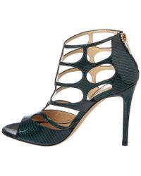 Jimmy Choo - Green Ren 100 Patent Sandal - Lyst