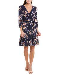 Eliza J Blue Faux Wrap Dress