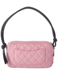 Chanel Pink Lambskin Leather Cambon Pochette