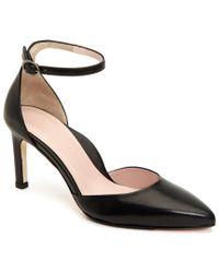 Taryn Rose - Black Women's Graziella Leather Pointed Toe Pumps - Lyst