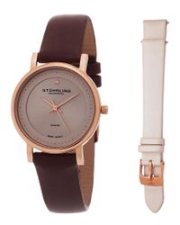 Stuhrling Original - Multicolor Stuhrling Women's Symphony Diamond Watch With Interchangeable Strap - Lyst