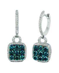 Le Vian Multicolor ? Grand Sample Sale 14k Vanilla Gold? 1.29 Ct. Tw. Diamond Earrings
