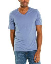Vince Blue V-neck T-shirt for men
