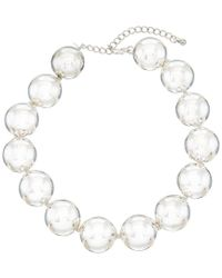 Kenneth Jay Lane - Metallic Plated Ball Necklace - Lyst