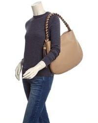 Tory Burch Natural Brooke Leather Hobo Bag