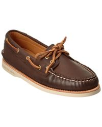 Sperry Top-Sider Brown Gold A/o 2-eye Leather Boat Shoe