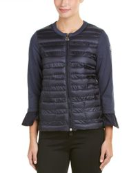Moncler | Blue Maglia Down Sweater Jacket | Lyst