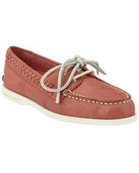 Sperry Top-Sider | Pink A/o Quinn Leather Boat Shoe | Lyst