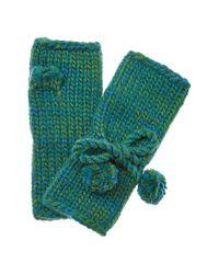 Portolano - Fall In Glove By Women's Green Wool-blend Gloves - Lyst