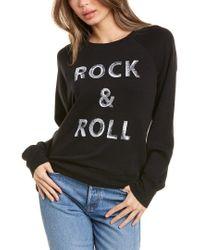 Zadig & Voltaire Black Upper Rock & Roll Decal Sweatshirt