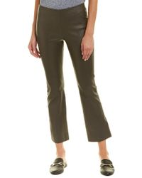 Vince Gray Leather Flare Pant
