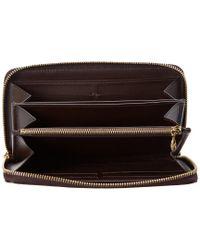 Louis Vuitton Multicolor Purple Monogram Vernis Leather Zippy Wallet