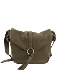 Nanette Lepore - Green Aspen Iii Colorblock Leather & Suede Hobo - Lyst