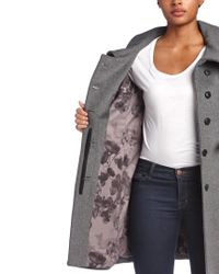 SOIA & KYO Gray Autry Belted Wool-blend Coat