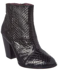 Nicole Miller - Black Artelier Oni Leather Bootie - Lyst