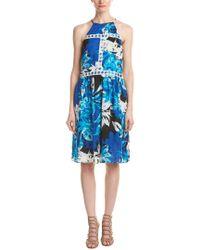 Parker - Blue Tamar Silk Midi Dress - Lyst