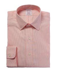 Brooks Brothers Orange Madison Fit Dress Shirt for men