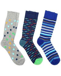 Unsimply Stitched Blue 3pk Socks for men