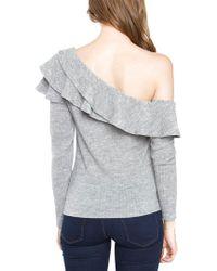 Sugarlips Gray Dannibelle One Shoulder Knit Top