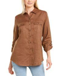 Go> By Go Silk Brown Go>silk Linen Shirt