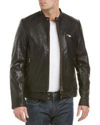 Zadig & Voltaire Black Len Leather Jacket for men