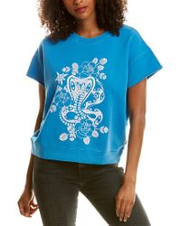 Zadig & Voltaire Blue Fame Bis Overdyed Sweatshirt
