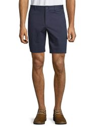 Slate & Stone Blue Novelty Ross Printed Shorts for men